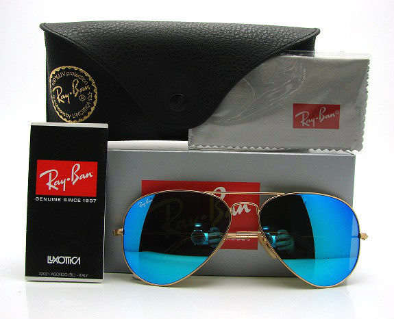 Ray-Ban Aviator RB3025 112/17 Crystal Blue Mirror