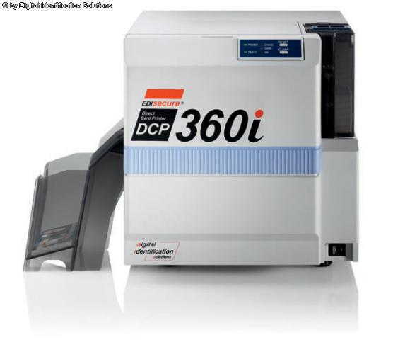 ; DCP 36 EDIsecure® DCP 360i Direct Card Printer  The double-sided, edge-to-edge EDIsecure® DCP360i Professional Direct-Card Printer was developed for industrial needs and is prepared for plug and play inline lamination  สินค้าคะแนน vote  ในรอบ 4 ชั่วโมงนี้  =  1